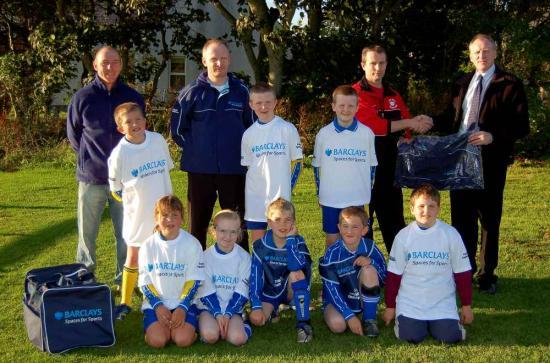 Photograph of Barclays Kit Boost For Lybster Junior Football Team