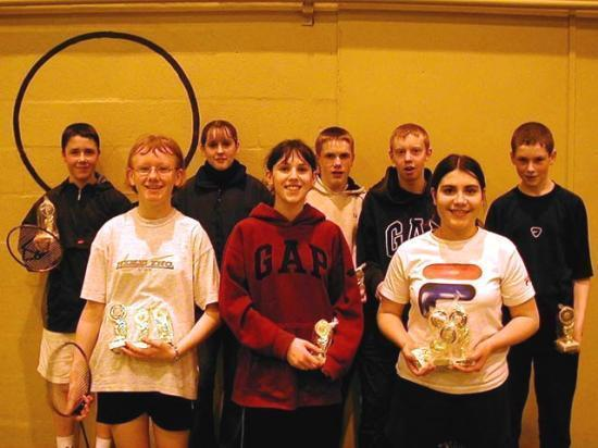 Photograph of Under 15 County Badminton Championships