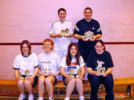 Photograph of Under 17 County Badminton Championships