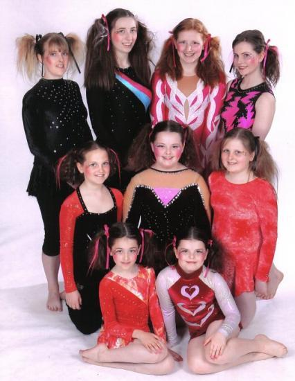 Photograph of Caithness Gymnasts Perform At GYMFEST 2009