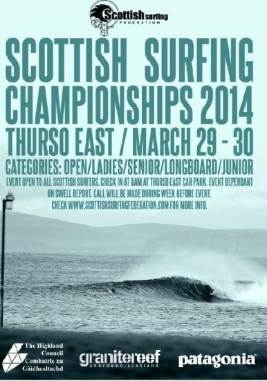 Photograph of Scottish Surf Championships - Thurso East 29 - 30 March 2014