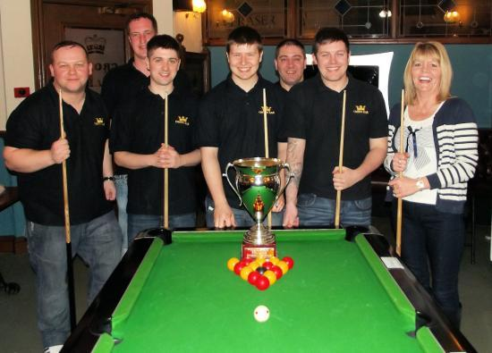 Photograph of Wick & District Pool League Division One Champions 2015 - Crown1
