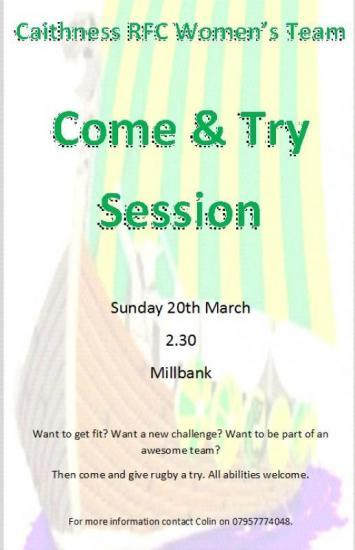 Photograph of Caithness Womens Rugby Come and Try Session