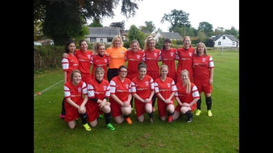 Photograph of Caithness Ladies Football Team First Ever Home Draw in Scottish Cup
