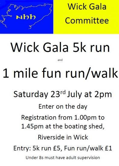 Photograph of Wick Gala 5k run and 1 mile fun run/walk