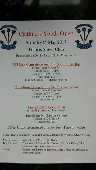 Photograph of Darts - Caithness Youth Open