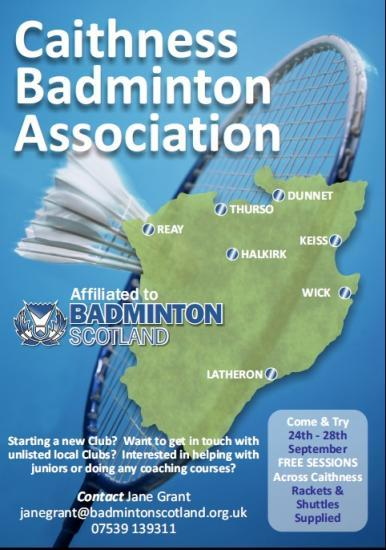 Photograph of Caithness Badminton - Come and Try Sessions